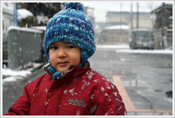 Kaika and snow, January 21, 2006: click for gallery