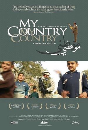 """Poster for """"My Country, My Country"""", film by Laura Poitras (2006)"""