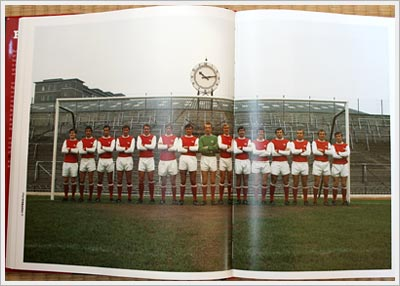 Arsenal team photo from Football Days book