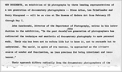 MoMA New Documents press release February 1967